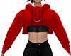 Red Midriff Hoody