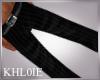K black pin strip pants