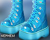 NP. Metallic Blue Boots