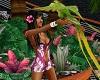K Hawaiian outfit pink