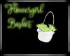 Lime Flowergirl Basket
