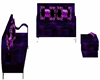 purple couch set