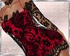 Red+Black Lace Dress
