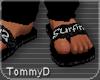 [T] Surfin Black Sandals