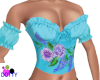 Skyblue ruffled blouse