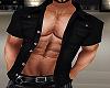 chemise ouverte black
