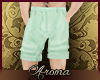 AOP=Mint chino shorts
