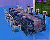 purpleblue wedding table