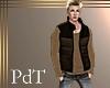 PdT Blk&Maple Puff Vest