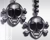 ! L! Skull Pearl Earring