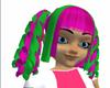 Green Pink Nezumi Hair