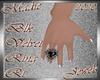 !a Blk Velvet Ring Rt
