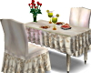 Beige Floral Dining Tabl