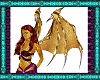 Gold Dragon Succub Wings