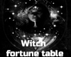 Witch fortune teller