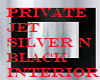 Private Jet Silver&Black