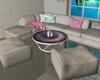 Grey and pink sofa set