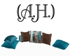 (A.H.)Brown Teal Pillows