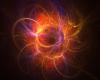 Fire Nebula Round GloRug