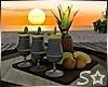 S* Sunset Fruit Tray
