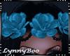*Angel Teal Rose Crown