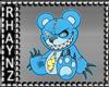 Zombie Teddy HP Sticker