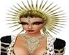 gold spike hair