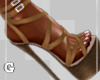 Tan Strapped Heels
