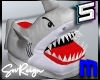 ! M Angry Shark Slippers