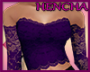 Lace Top - Purple