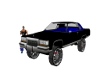 bk/blue caddy donk