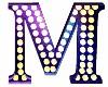 Letter M Flashing Light