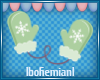 Green Mittens Sticker