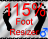 *M* Foot Resizer 115%