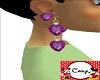 Amethyst Diamond Earring