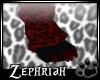 [ZP] Blk/Red Paw (M)Feet