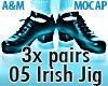 IRISH JIG 05 - 3x Pairs