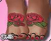 Rose Feet  Tattoo