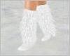 LONG White FUR Boots!