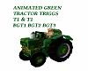 ANIMATED GREEN TRACTORS