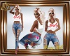 AD Kisses Tank & Jeans S