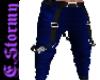 Dark Blue Suspender Pant