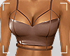 ṩLeather Top Brown