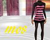 Black&Pink Woolen Dress