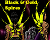 Black and Gold Spires M