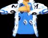 W/Blk/Blu GGG Hoody
