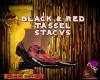 DM*BLACK & RED TASSELS