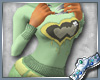 (P)Wide Top*Green Heart
