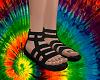 A~Hippie Sandals - Black