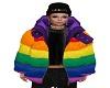 STEM Rainbow Puffer Coat